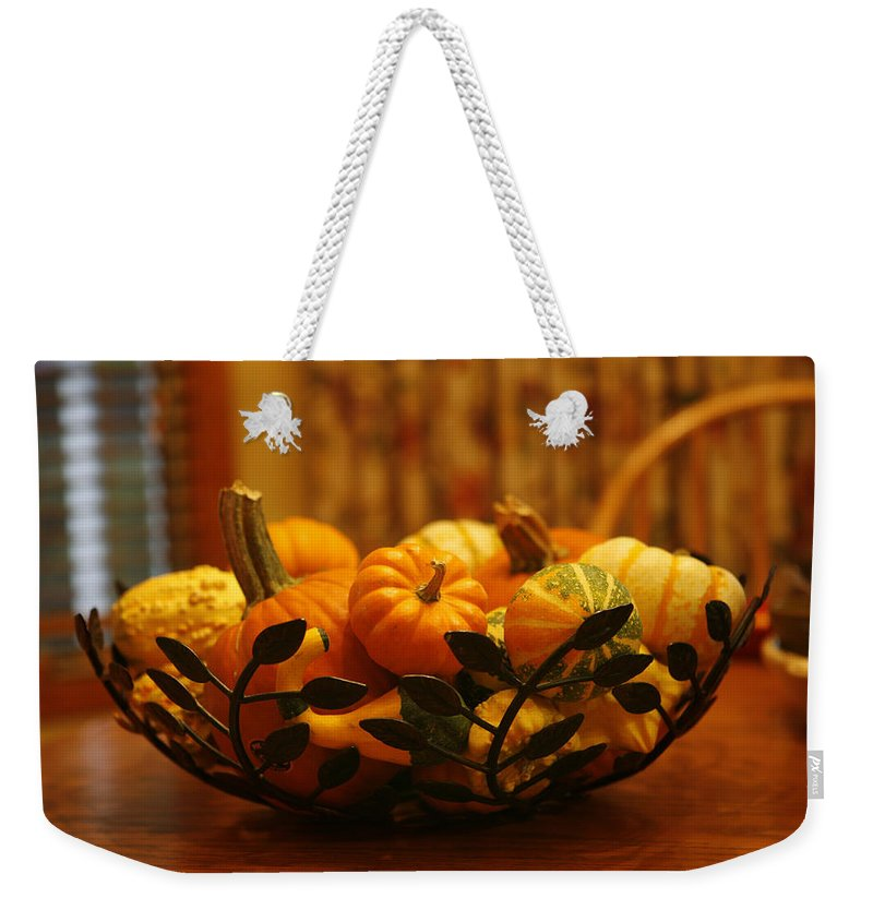 Autumn Weekender Tote Bag featuring the photograph Autumn Glow by Marilyn Hunt