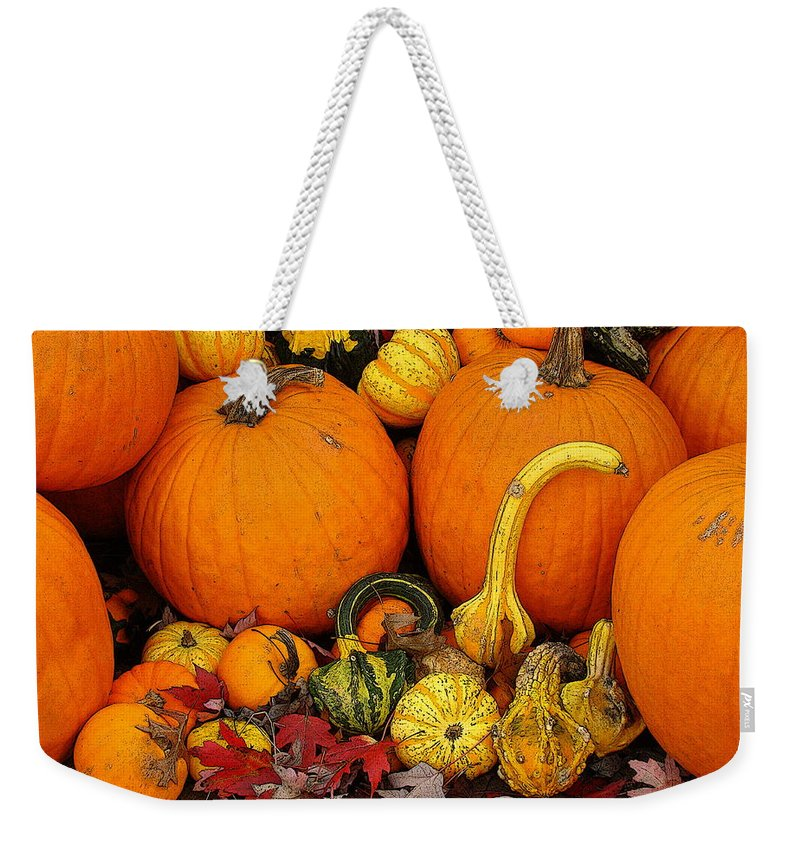 Fine Art Weekender Tote Bag featuring the photograph Autumn Harvest 5 by Rodney Lee Williams
