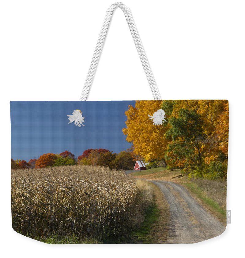 St Croix Weekender Tote Bag featuring the photograph Autumn In Minnesota by Garry McMichael