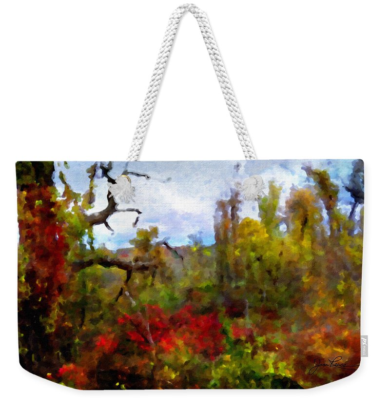 Horizon Image Weekender Tote Bag featuring the photograph Autumn In New England by Joan Reese