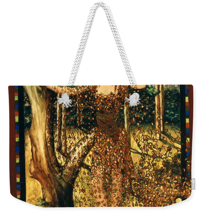 Autumn Weekender Tote Bag featuring the painting Autumn by Jane Whiting Chrzanoska