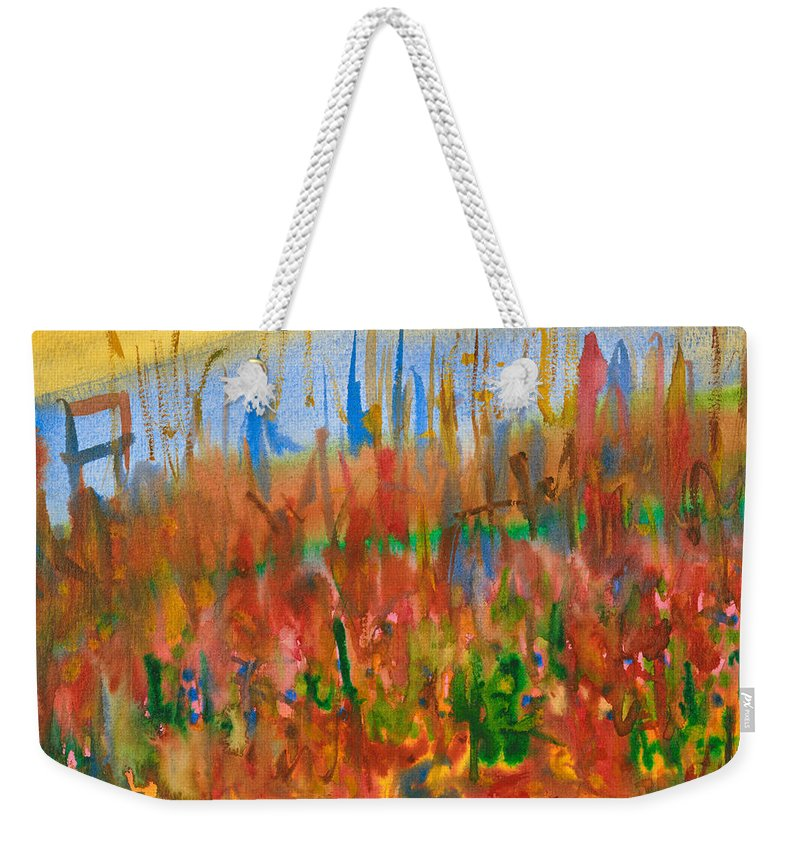 Fall Weekender Tote Bag featuring the painting Autumn Leaves by Bjorn Sjogren