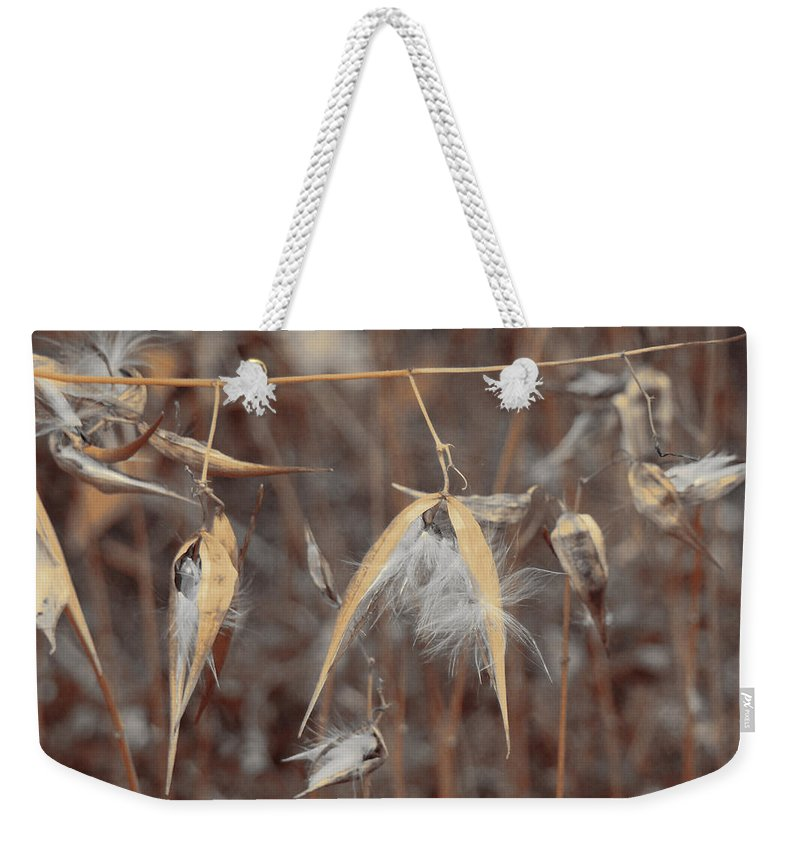 Autumn Milkweed Weekender Tote Bag featuring the photograph Autumn Milkweed by Gothicrow Images