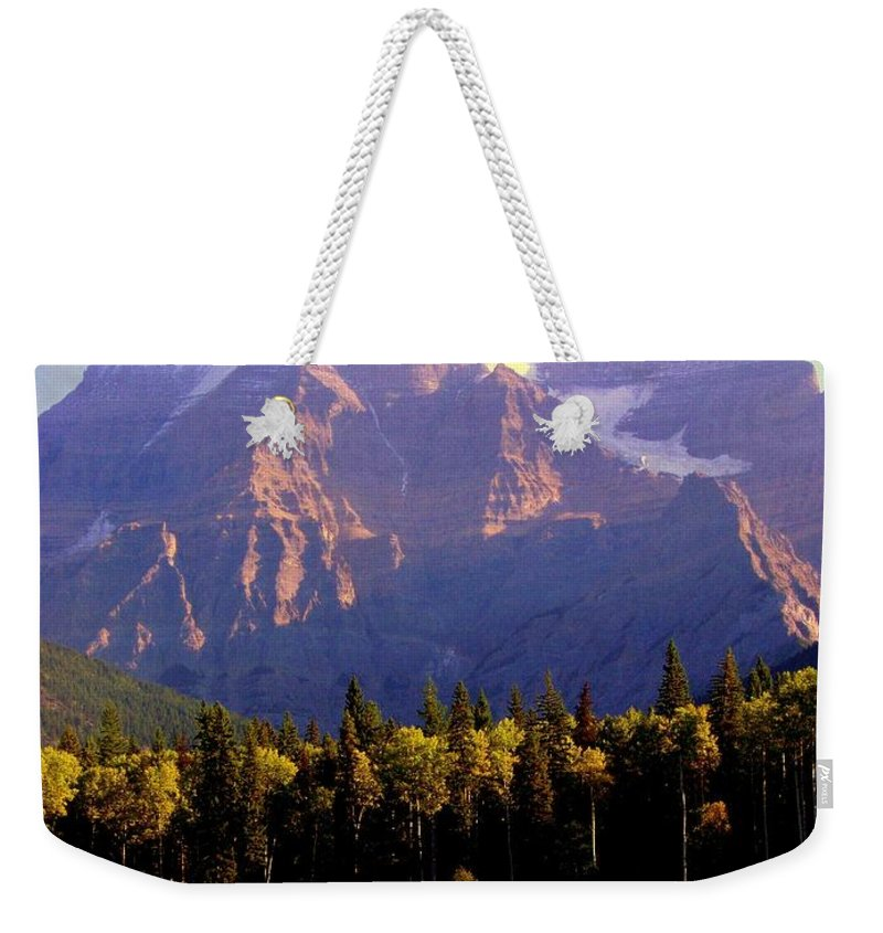 Landscapes Weekender Tote Bag featuring the photograph Autumn On The Mount by Karen Wiles