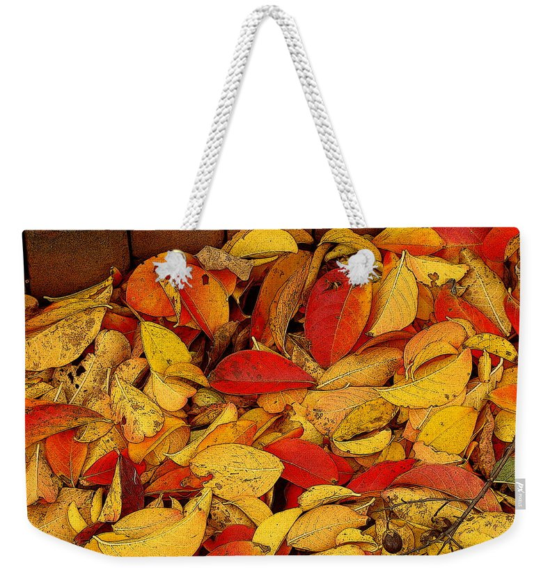 Fine Art Weekender Tote Bag featuring the photograph Autumn Remains 2 by Rodney Lee Williams