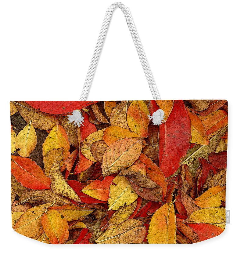 Fine Art Weekender Tote Bag featuring the photograph Autumn Remains by Rodney Lee Williams