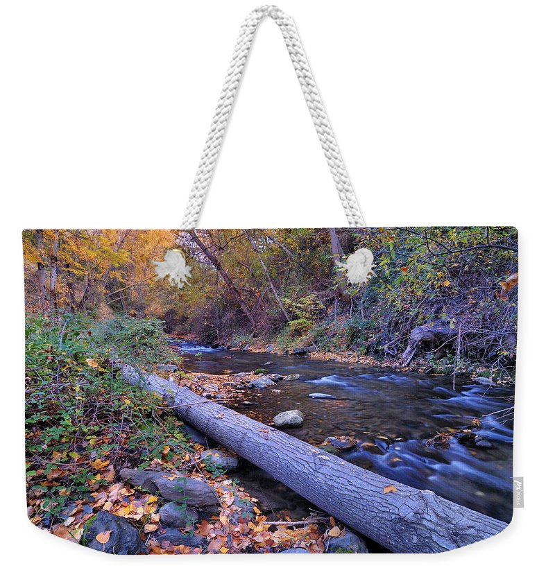 River Weekender Tote Bag featuring the photograph Genil River by Guido Montanes Castillo