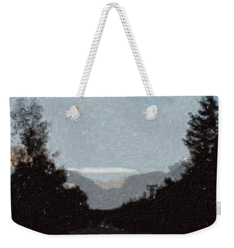 Autumn Weekender Tote Bag featuring the painting Autumn Roads by Sergey Bezhinets