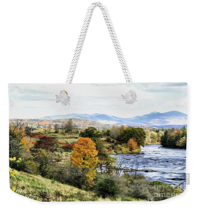 Autumn Weekender Tote Bag featuring the photograph Autumn Rural Scene by Deborah Benoit