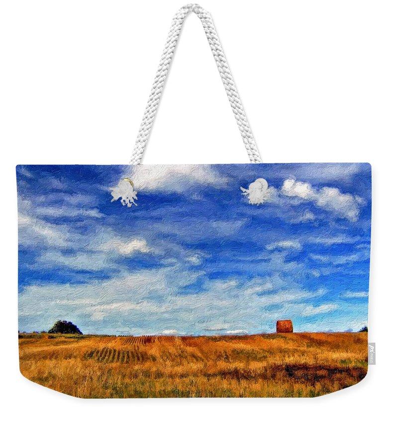 Ontario Weekender Tote Bag featuring the photograph Autumn Sky Impasto by Steve Harrington
