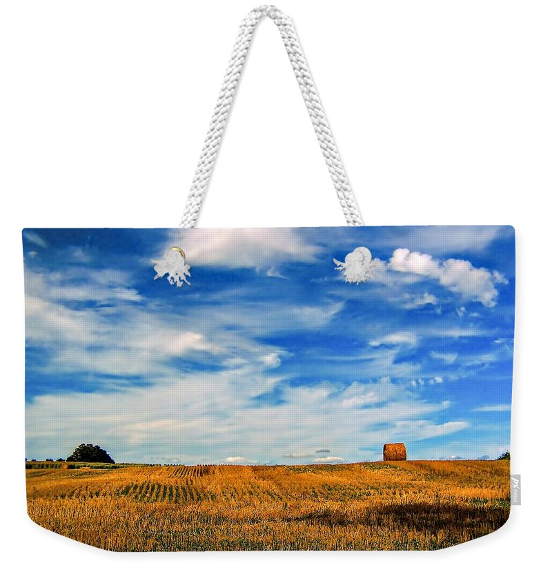 Ontario Weekender Tote Bag featuring the photograph Autumn Sky by Steve Harrington
