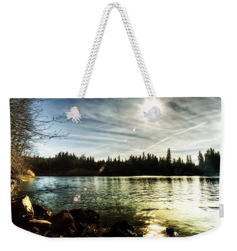 Carmen Reservoir Weekender Tote Bag featuring the photograph Autumn Sonata by Belinda Greb