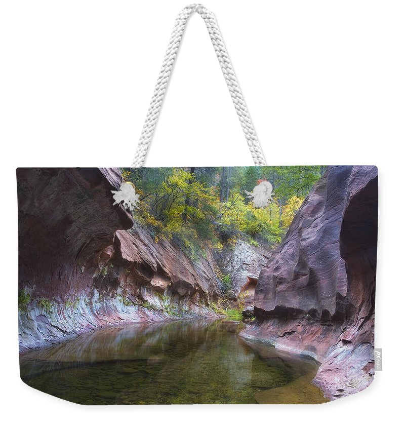 Arizona Weekender Tote Bag featuring the photograph Autumn Subway by Peter Coskun