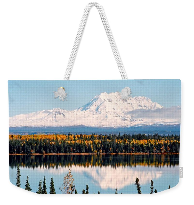 Alaska Weekender Tote Bag featuring the photograph Autumn View Of Mt. Drum - Alaska by Juergen Weiss