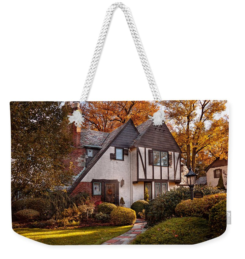 Autumn Weekender Tote Bag featuring the photograph Autumn - Westfield Nj - Visting Grandpa's by Mike Savad