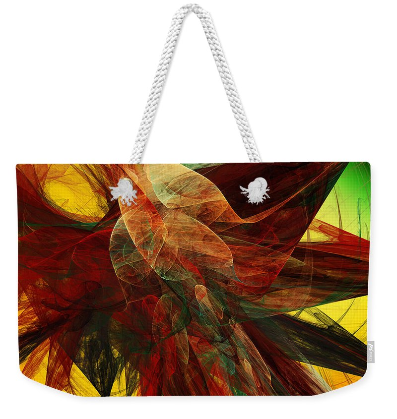 Andee Design Abstract Weekender Tote Bag featuring the digital art Autumn Wings by Andee Design
