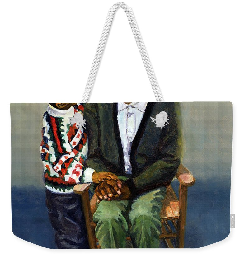 Grandfather Weekender Tote Bag featuring the painting Autumn Woes by Colin Bootman