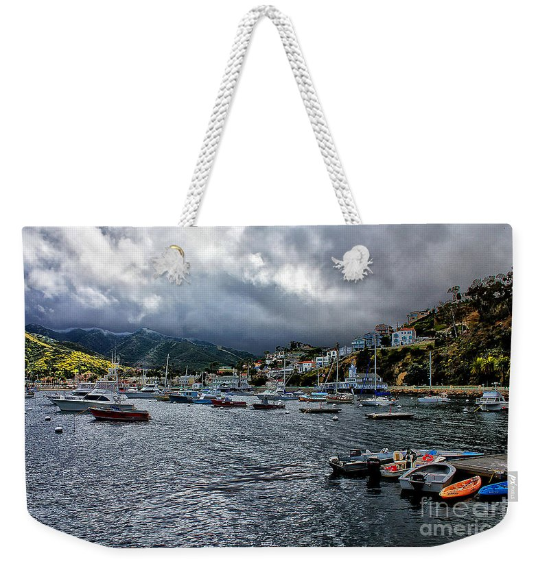 Avalon Weekender Tote Bag featuring the photograph Avalon Harbor by Stefan H Unger