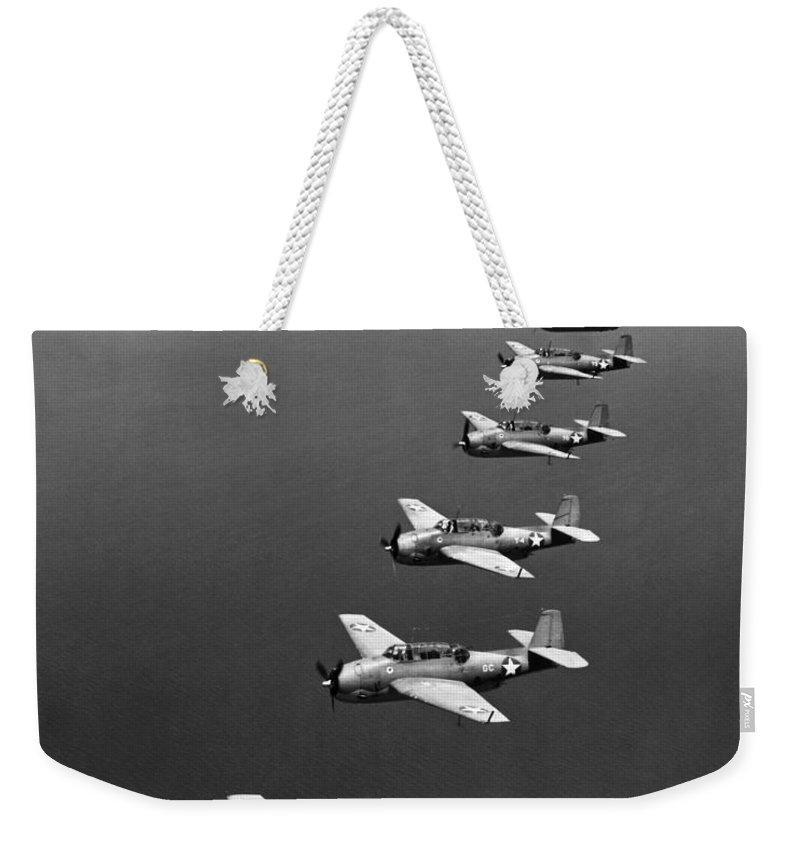 1943 Weekender Tote Bag featuring the photograph Avenger Bombers, 1943 by Granger