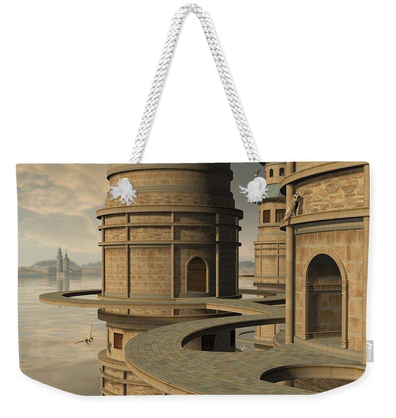 Owl Weekender Tote Bag featuring the digital art Aviary by Cynthia Decker