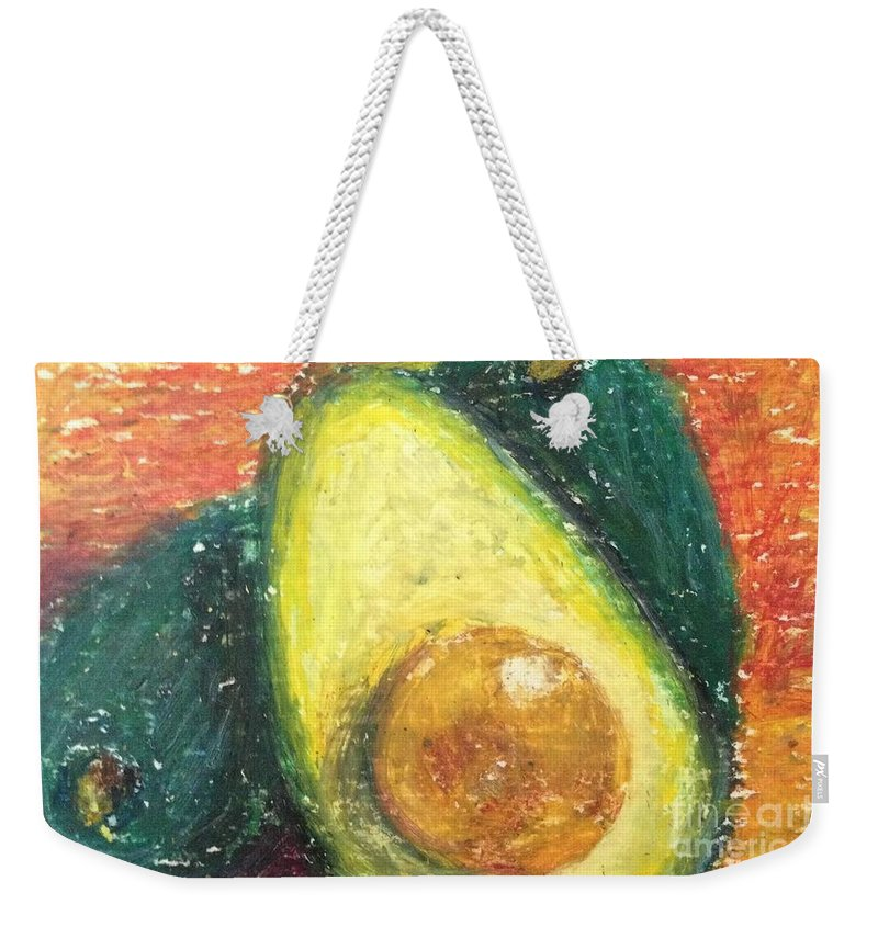 Avocado Weekender Tote Bag featuring the painting Avocados by Laurie Morgan
