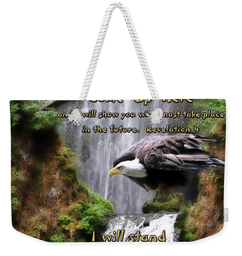 Eagle Weekender Tote Bag featuring the photograph Awaken The Watchman by Constance Woods