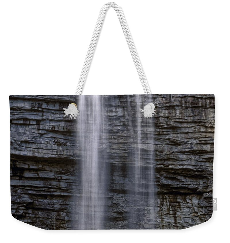 Awosting Falls Weekender Tote Bag featuring the photograph Awosting Falls by Dave Mills