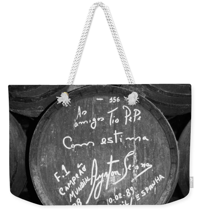 Europe Weekender Tote Bag featuring the photograph Ayrton Senna - 1988 Jerez by Juergen Weiss