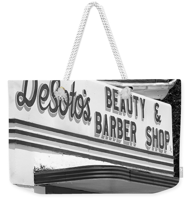 5 Star Weekender Tote Bag featuring the photograph Az Route 66 - Ash Fork - Desoto's by Jeff Brunton