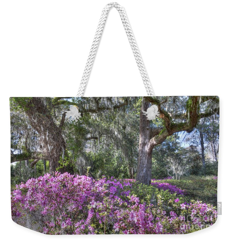 Azalea Weekender Tote Bag featuring the photograph Azalea In Bloom by Dale Powell
