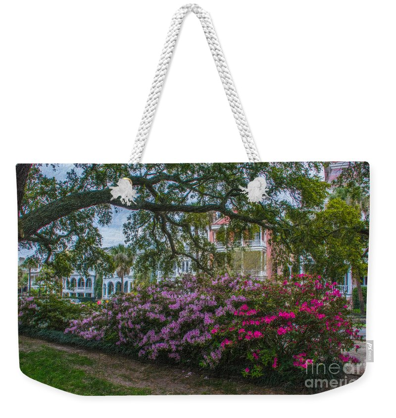 Spring Weekender Tote Bag featuring the photograph Azalea Row by Dale Powell