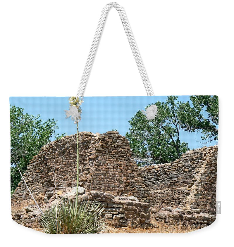 Aztec Ruins National Monument Weekender Tote Bag featuring the photograph Aztec Ruins National Monument by Laurel Powell