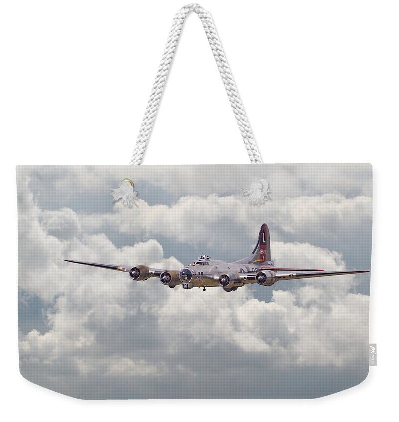 Aircraft Weekender Tote Bag featuring the digital art B17- Yankee Lady by Pat Speirs