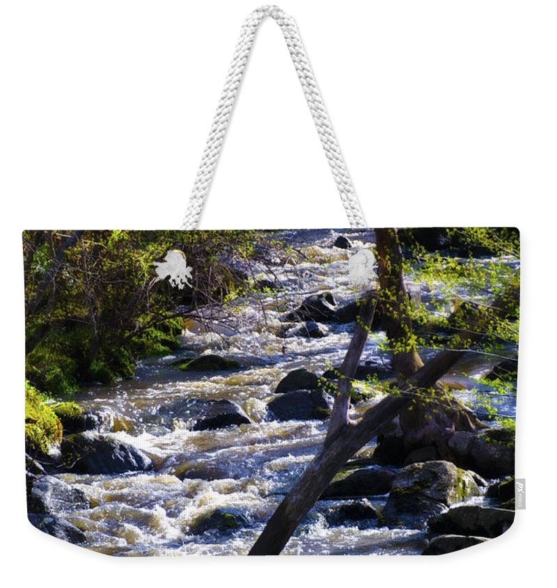 Babbling Weekender Tote Bag featuring the photograph Babbling Brook by Bill Cannon