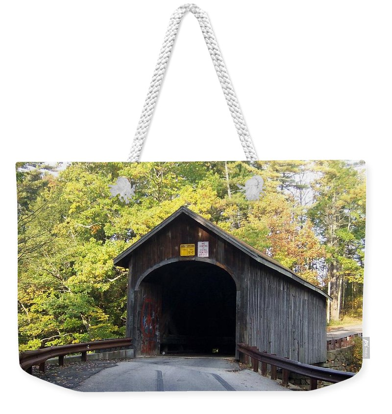 Bridges Photographs Weekender Tote Bag featuring the photograph Babbs Covered Bridge by Catherine Gagne