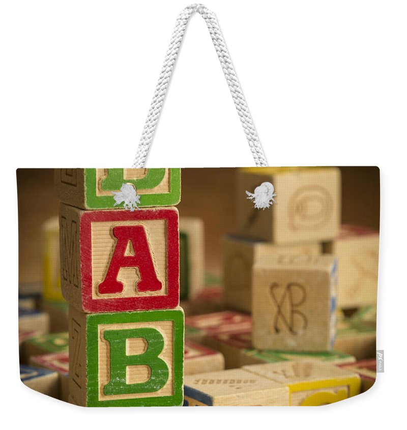 Blocks Weekender Tote Bag featuring the photograph Baby Blocks by Edward Fielding