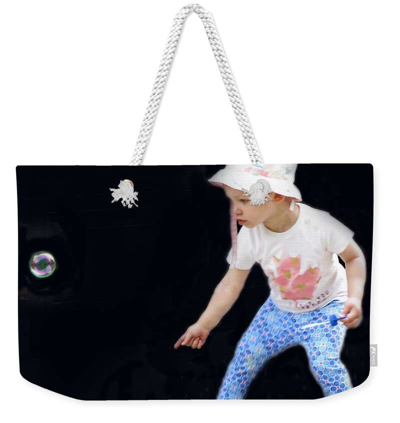 Baby Weekender Tote Bag featuring the photograph Baby Bubble by Ian MacDonald