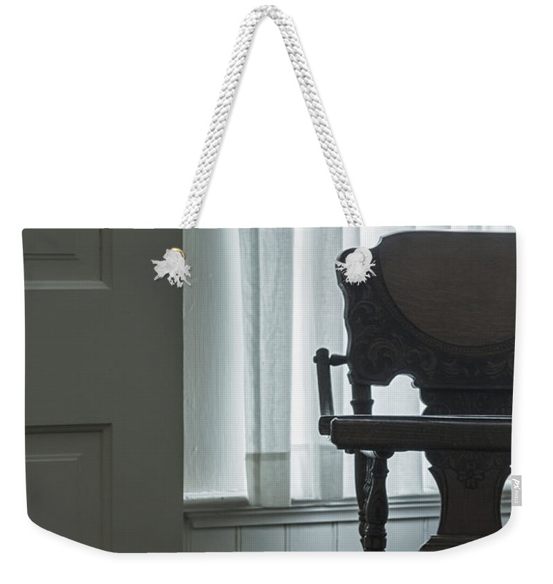 No Body Weekender Tote Bag featuring the photograph Baby's High Chair by Margie Hurwich