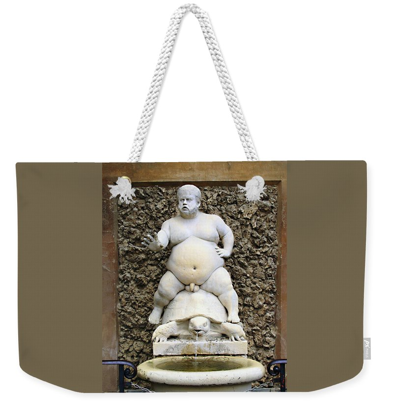 Bacchus Fountain Weekender Tote Bag featuring the photograph Bacchus Fountain by Ellen Henneke