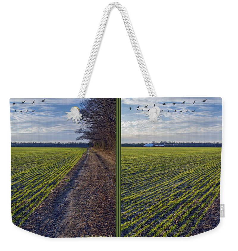 3d Weekender Tote Bag featuring the photograph Back Forty - Gently Cross Your Eyes And Focus On The Middle Image by Brian Wallace