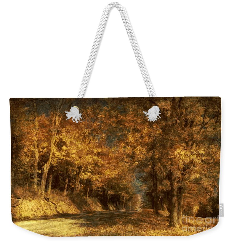 Road Weekender Tote Bag featuring the photograph Back Roads by Lois Bryan