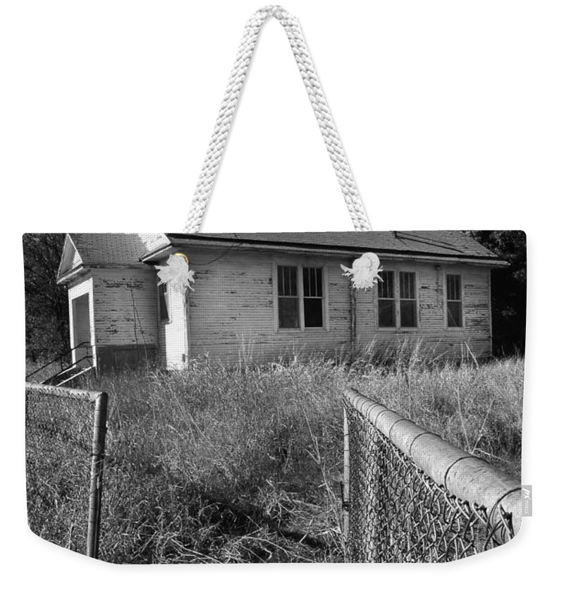 Old School House Weekender Tote Bag featuring the photograph Back To School by Brian Duram