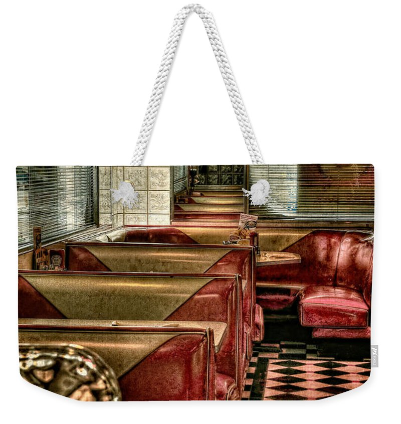 Diner Weekender Tote Bag featuring the photograph Back To The Fifties by Lois Bryan