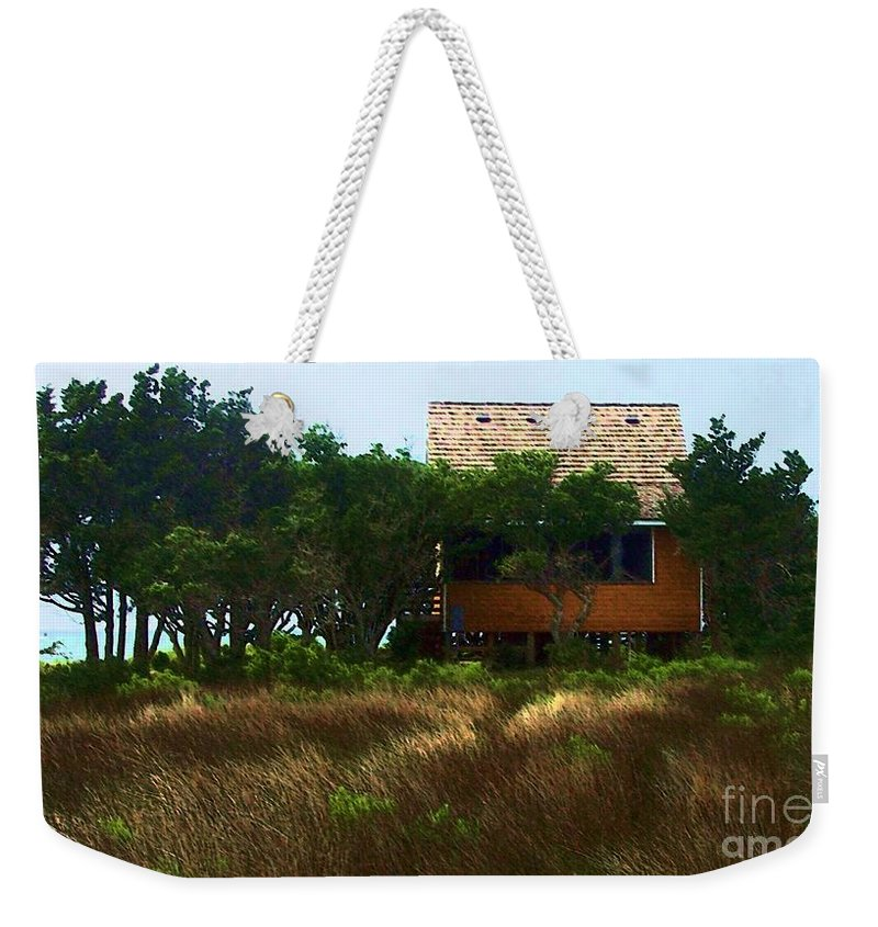 Beach Weekender Tote Bag featuring the photograph Back To The Island by Debbi Granruth