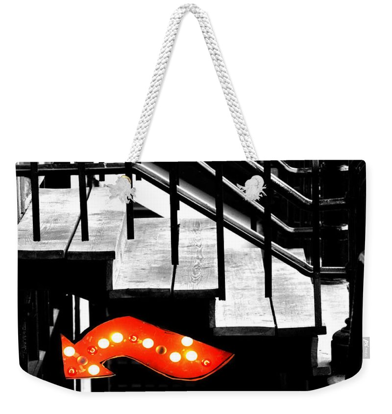 Black And White Photography Weekender Tote Bag featuring the photograph Backdoor Slips by The Artist Project