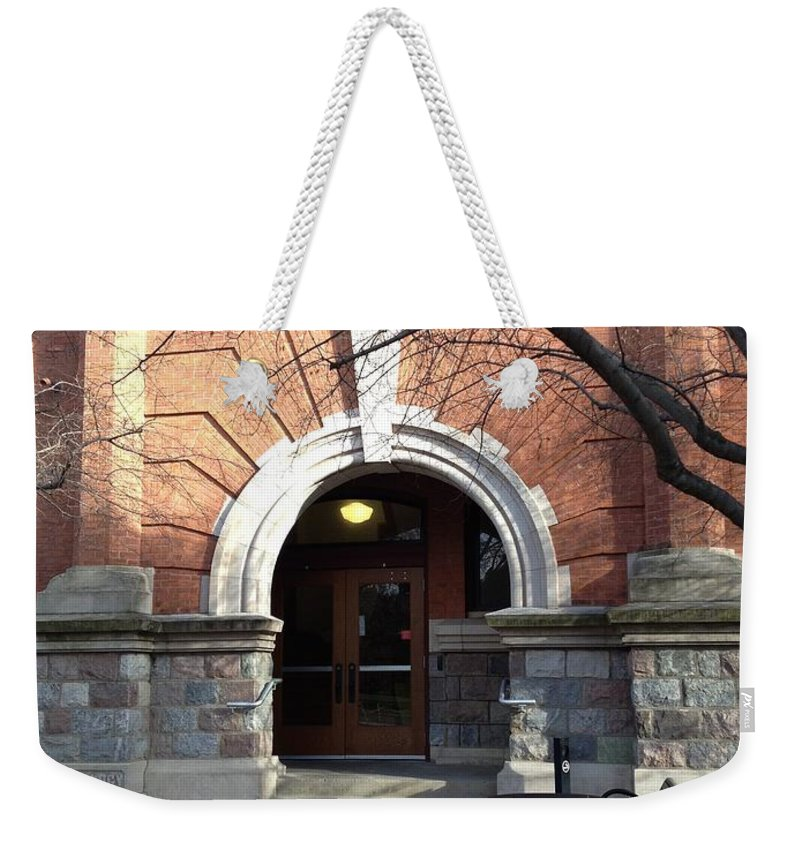 Red Brick Weekender Tote Bag featuring the photograph Bacteriology by Joseph Yarbrough