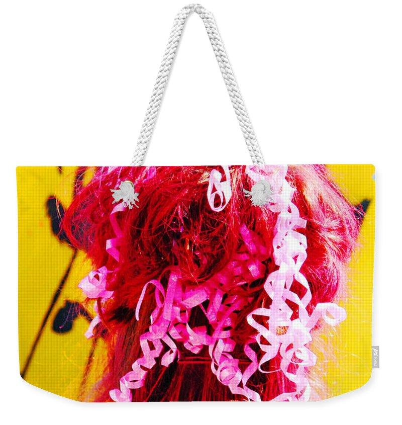 Hair Weekender Tote Bag featuring the digital art Bad Hair Day by Lizi Beard-Ward