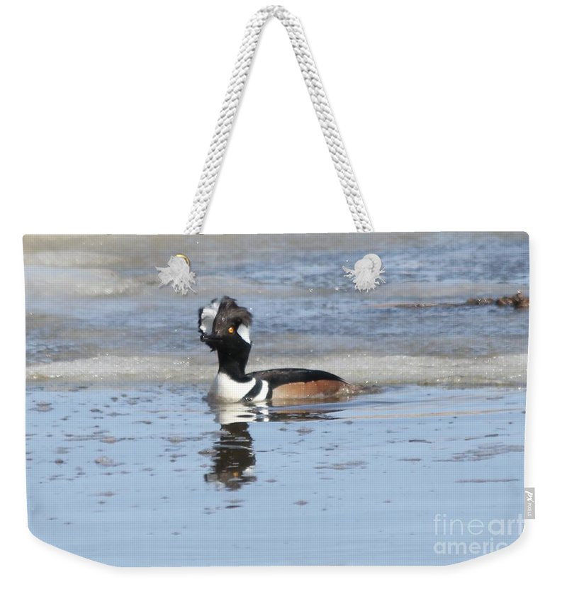 Hodded Weekender Tote Bag featuring the photograph Bad Hair Day by Lori Tordsen