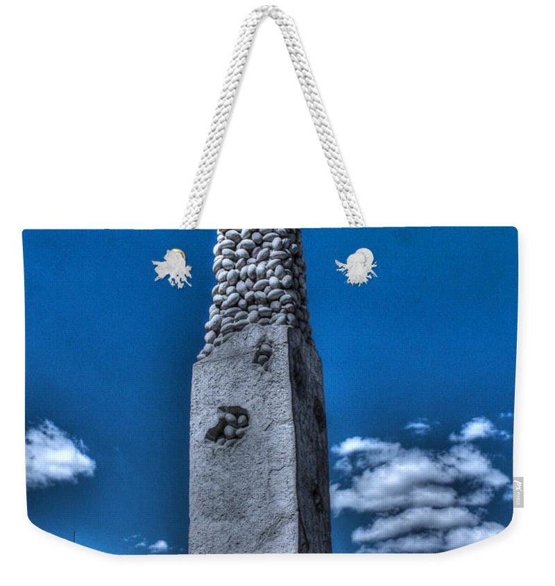 Camp Randall Weekender Tote Bag featuring the photograph Badger Football Memorial by Tommy Anderson