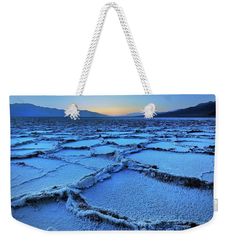 Tranquility Weekender Tote Bag featuring the photograph Badwater Dusk, Death Valley, California by Joao Figueiredo